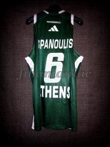2009 European Triple Crown Panathinaikos Athens Vassilis Spanoulis Jersey - Back