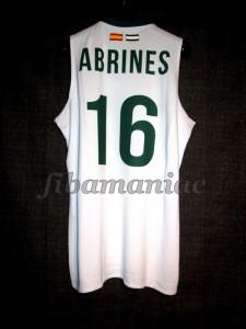 2011/2012 ACB Rookie Season Unicaja Málaga Álex Abrines Jersey - Back