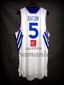 2014 World Cup France Nicolas Batum Jersey - Back