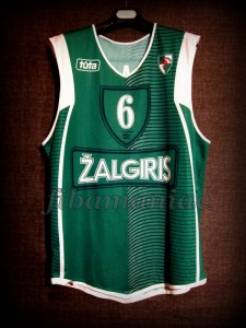 2004/2005 Euroleague Best Rebounder Zalgiris Kaunas Tanoka Beard Jersey - Front