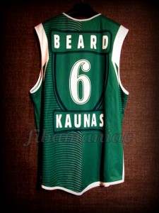 2004/2005 Euroleague Best Rebounder Zalgiris Kaunas Tanoka Beard Jersey - Back