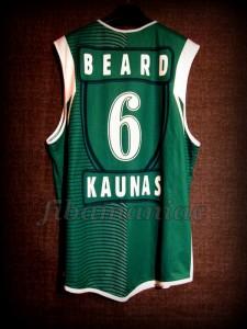 2004/2005 Euroleague Best Rebounder Zalgiris Kaunas Tanoka Beard Jersey - Back