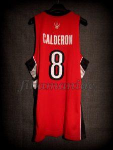 2008/2009 Toronto Raptors José Manuel Calderón Jersey - Back