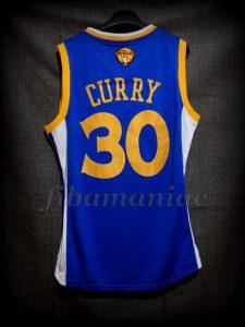 2015 & 2017 NBA Finals Champions Golden State Warriors Stephen Curry Jersey - Back