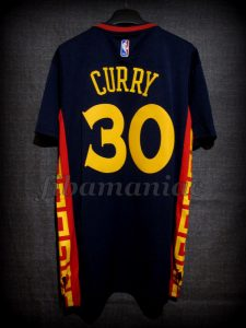 2015 Chinese New Year & NBA Season MVP Golden State Warriors Stephen Curry Jersey - Back