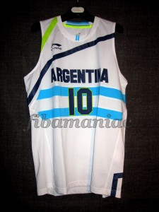 London 2012 Olympic Games Argentina Carlos Delfino Jersey - Front