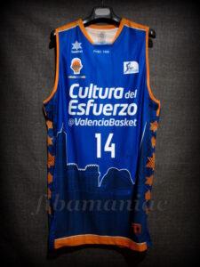 2014/2015 ACB Valencia Basket Bojan Dubljevic Jersey Front - Signed