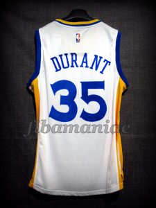 2016/2017 Debut Game & NBA Finals MVP Golden State Warriors Kevin Durant Jersey - Back