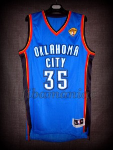 2012 NBA Finals Oklahoma City Thunder Kevin Durant Jersey - Front