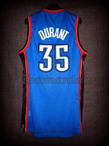 2012 NBA Finals Oklahoma City Thunder Kevin Durant Jersey - Back
