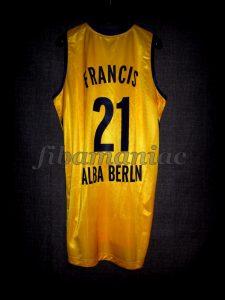 2011/2012 Eurocup Torin Francis - Back