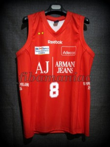 2010 NBA Europe Tour Special Edition Olimpia Milan Danilo Gallinari Jersey – Front