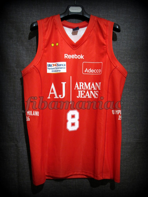 976b7953c176 2010 NBA Europe Tour Special Edition Olimpia Milan Danilo Gallinari Jersey  – Front
