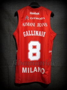 2010 NBA Europe Tour Special Edition Olimpia Milan Danilo Gallinari Jersey – Back
