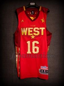 2011 NBA All Star Pau Gasol Jersey – Front