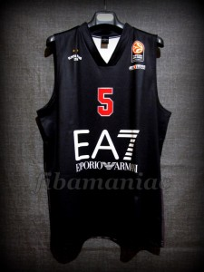 2014/2015 Euroleague Olimpia Milan Alessandro Gentile Jersey - Front