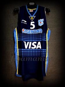 2012 Pre-Olympic Argentina Manu Ginóbili Jersey - Front