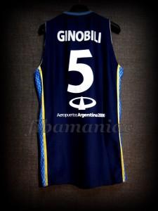 2012 Pre-Olympic Argentina Manu Ginóbili Jersey - Back