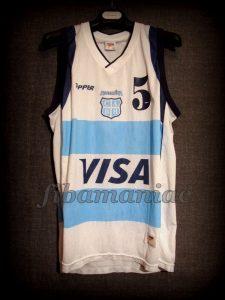 Athens 2004 Olympic Games Champions Argentina Manu Ginóbili Jersey - Front