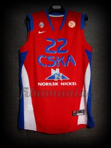 2008 Euroleague Champions CSKA Moscow Marcus Goree Jersey - Front