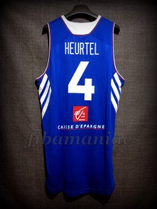 2014 World Cup France Thomas Heurtel Jersey - Back