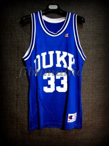 1991 & 1992 NCAA Champions Duke Blue Devils Grant Hill Jersey - Front