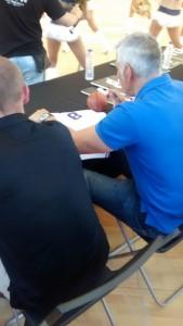 Joe Arlauckas signing my jersey