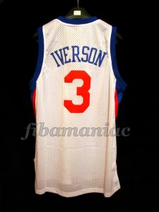 2009/2010 Comeback Season Philadelphia 76ers Allen Iverson Jersey – Back