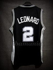 2014 NBA Finals MVP San Antonio Spurs Kawhi Leonard Jersey – Back