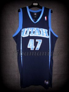 2005 NBA Blocks Leader Utah Jazz Andrei Kirilenko Jersey - Front