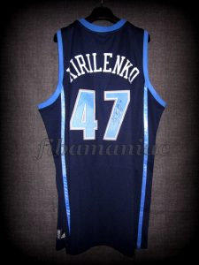 2005 NBA Blocks Leader Utah Jazz Andrei Kirilenko Jersey - Back