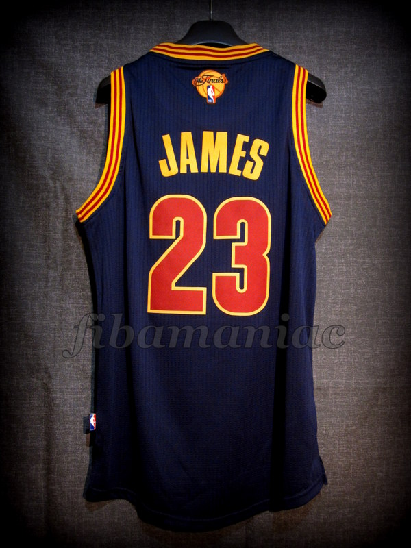 2016 NBA Finals MVP Cleveland Cavaliers Lebron James Jersey - Back dfb5a5874