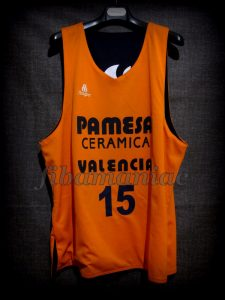 2003 ULEB Cup Champions Valencia Basket Víctor Luengo Training Jersey – Front