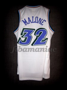 1998 NBA Finals Utah Jazz Karl Malone Jersey - Back