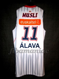 2010/2011 ACB Semifinals Baskonia Vitoria Dejan Musli Jersey Back - MW