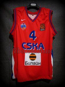 2008 Euroleague Champions CSKA Moscow Theodoros Papaloukas Jersey - Front