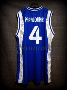 2007 Eurobasket Semifinals Greece Theodoros Papaloukas Jersey - Back