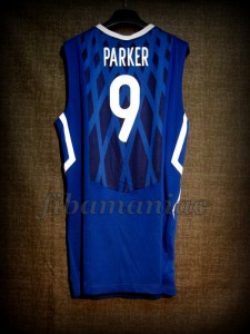 2010 World Cup France Tony Parker Jersey - Back