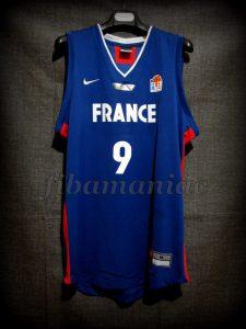 2005 Eurobasket France Tony Parker Jersey - Front