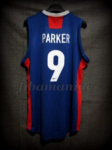 2005 Eurobasket France Tony Parker Jersey - Back
