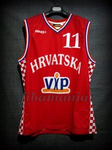 2005 Eurobasket Croatia Zoran Planinic Jersey - Front
