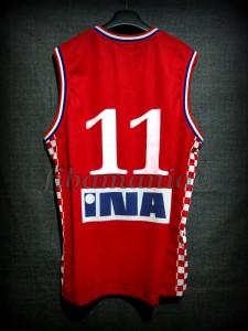 2005 Eurobasket Croatia Zoran Planinic Jersey - Back