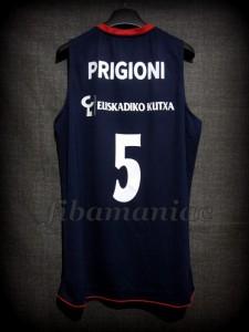 2011/2012 Euroleague Baskonia Vitoria Pablo Prigioni Jersey - Back