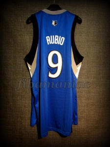 2012 NBA All-Rookie First Team Minnesota Timberwolves Ricky Rubio Jersey - Back