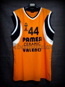 2003/2004 Euroleague Valencia Basket Antoine Rigaudeau Jersey - Front