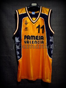 2001 European Cup Winners' Cup Semifinals Valencia Basket Nacho Rodilla Jersey - Front