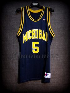 1993 NCAA Final Four Michigan Wolverines Jalen Rose Jersey - Front