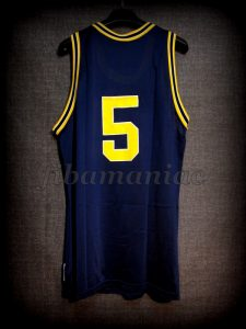 1993 NCAA Final Four Michigan Wolverines Jalen Rose Jersey - Back