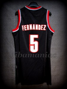 2009 NBA All-Rookie Second Team Portland Trail Blazers Rudy Fernández Jersey - Back