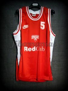 1996 HEBA Season & Finals MVP Olympiacos Piraeus Giorgos Sigalas Jersey Front - MW